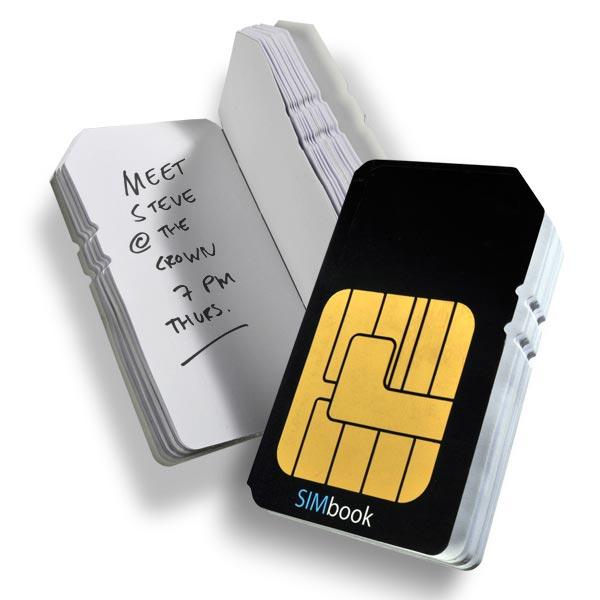 SIMbook Notepad and Address Book
