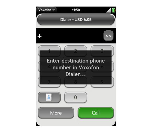 VOIP-app-Palm-Pre