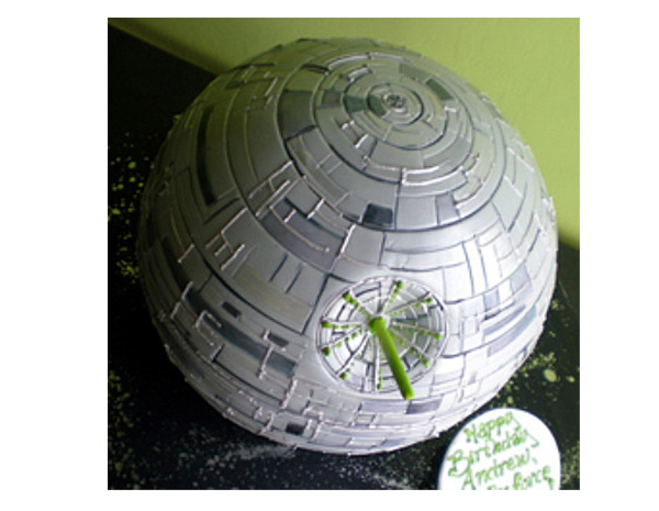 star wars cake designs. This Death Star birthday cake