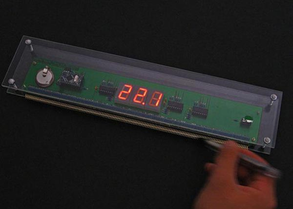 Wooden Ruler with Digital Display