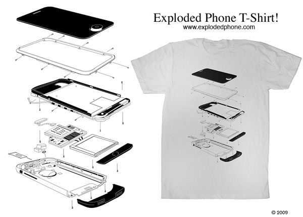 exploded-iphone-t-shirt