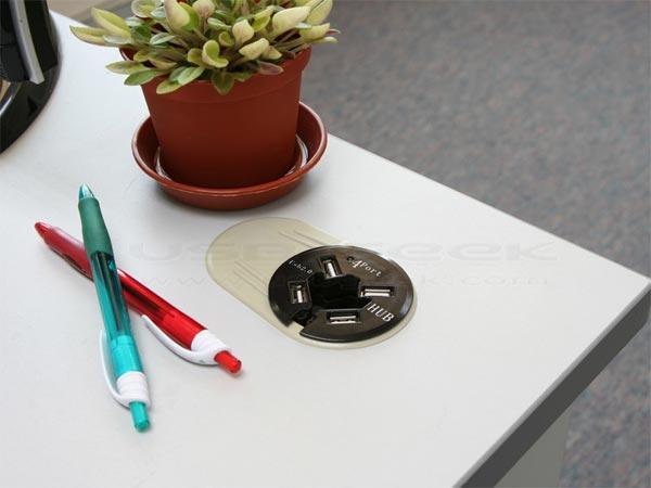 In-Desk USB 4 Port Hub