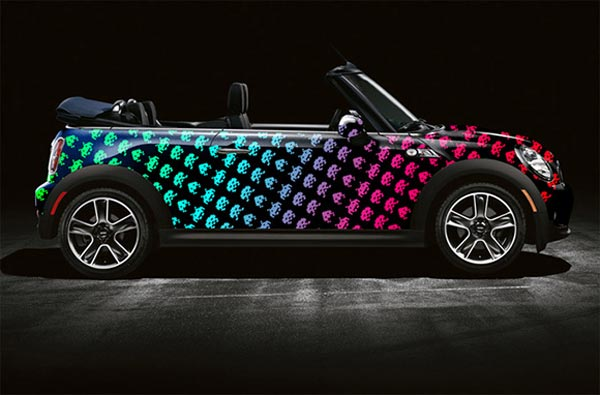 Space Invaders and Pac-Man Mini Cooper