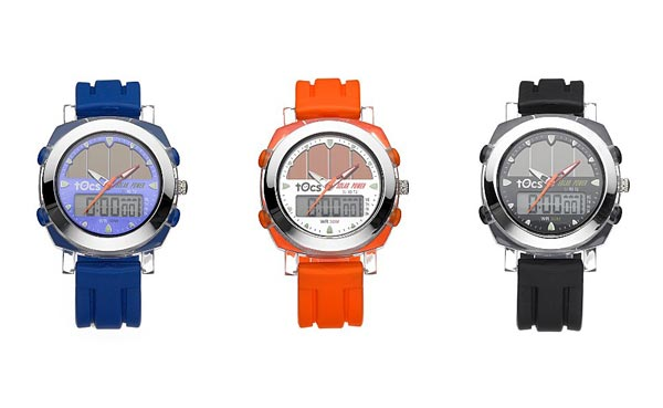 Tocs Ani-Digi Solar Chronograph Watch