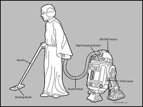 Leia R2 Vacuum T-Shirt