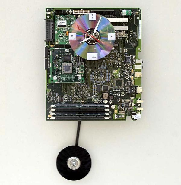 Recycled Apple Mac G4 Motherboard Clock