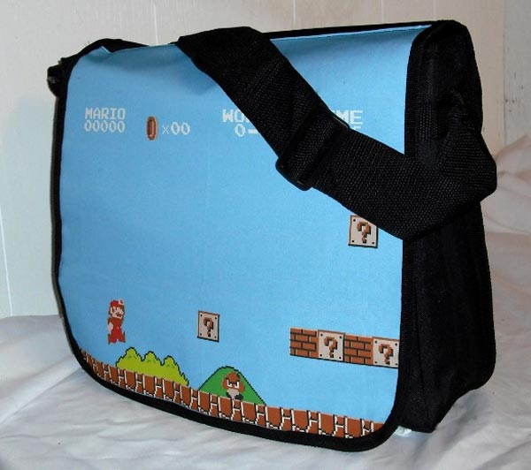 Retro Arcade Game Messenger Bags