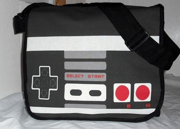 Retro Arcade Game Messenger Bags