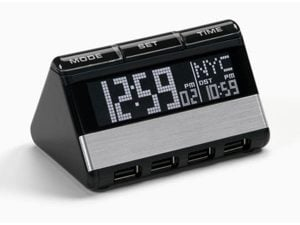 USB Hub and World Travel Clock