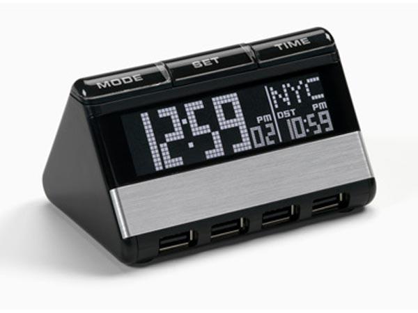USB Hub and World Travel Clock