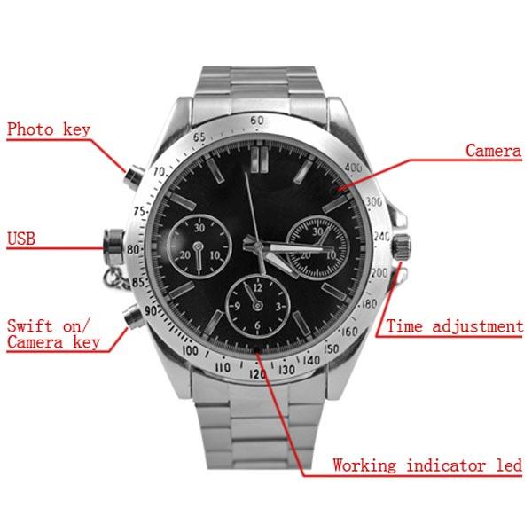 Cronograph Spy Camera Watch