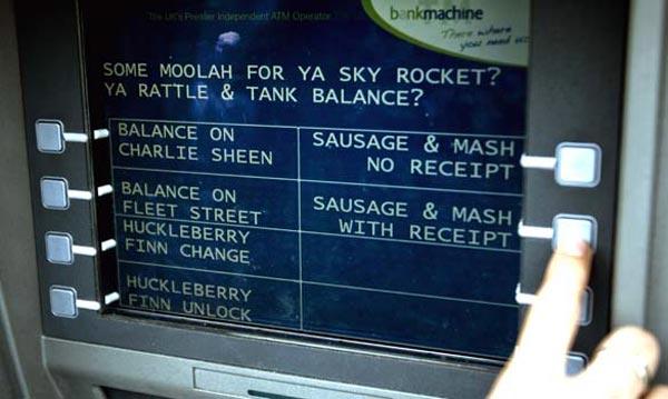 Cockney Rhyming Slang ATMs