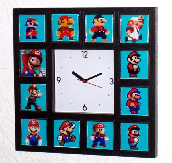 The Evolution of Mario Wall Clock
