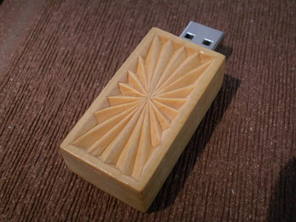 Hand Carved Wooden USB Drives