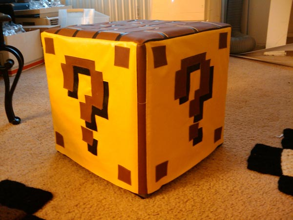 Super Mario World Question Mark Block Ottoman