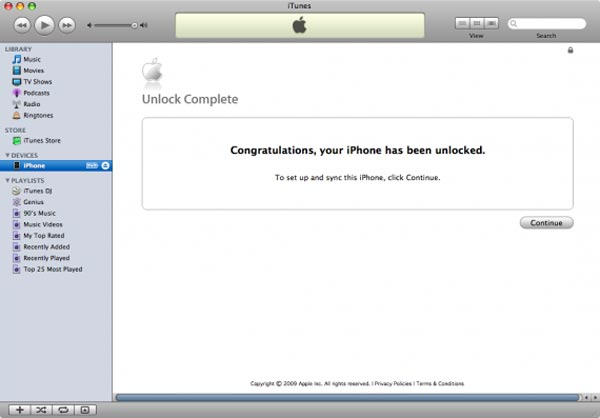 Official iPhone 3G Unlock