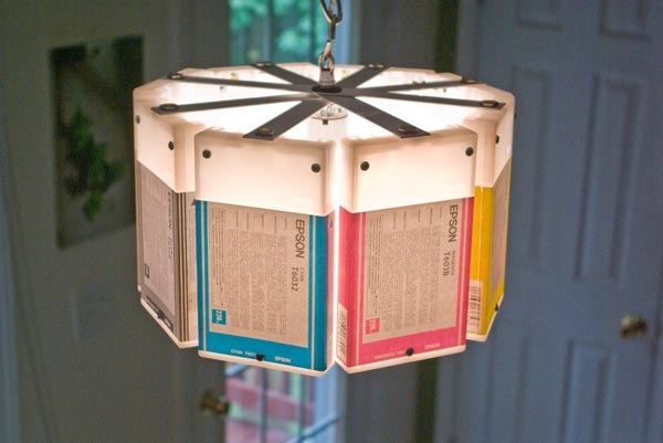 Recycled Ink Cartridge Lamps