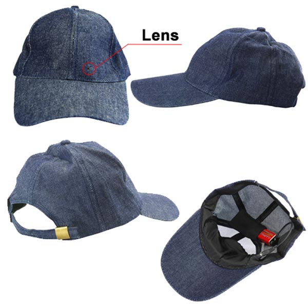 Spy Camera Baseball Cap