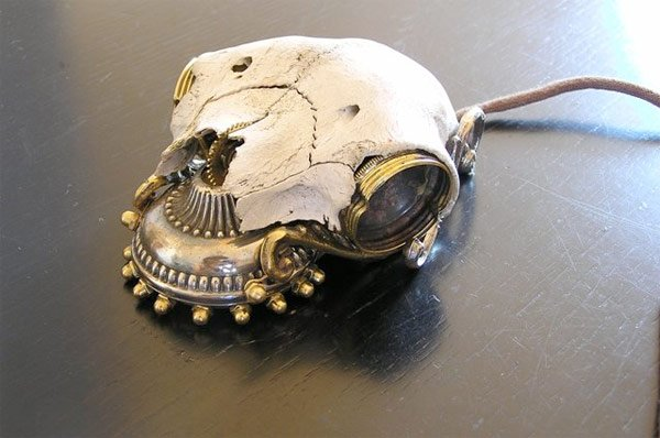 Steampunk Skull Mouse