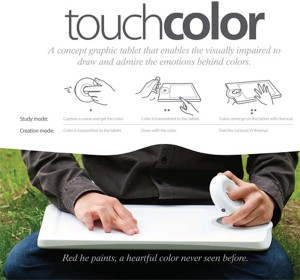 Touchcolor helping the visually impaired paint & draw