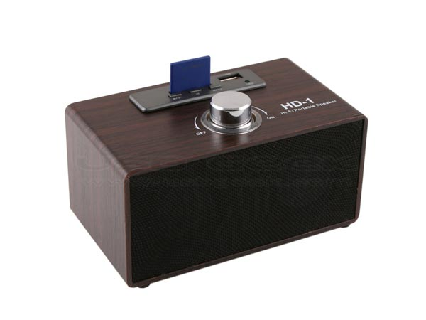 USB Retro Wooden Speaker MP3 Player
