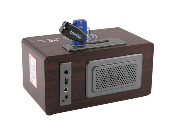 USB Retro Wooden Speaker MP3 Player