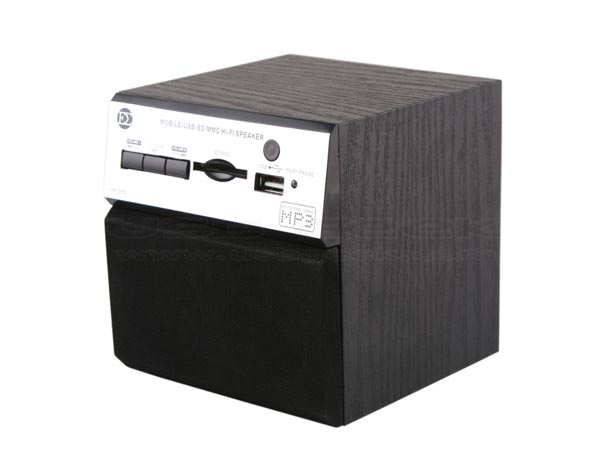 USB Retro Wooden Speaker and MP3 Player Cube