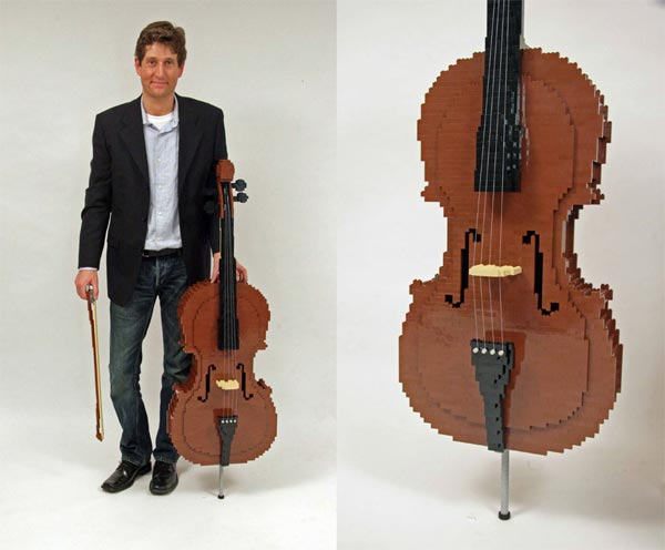 Life Sized Lego Cello