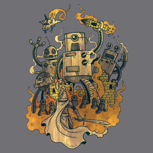 Medieval Robot T-Shirt