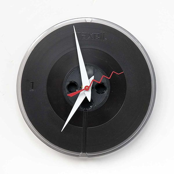 Recycled Maxell Tape Reel Clock