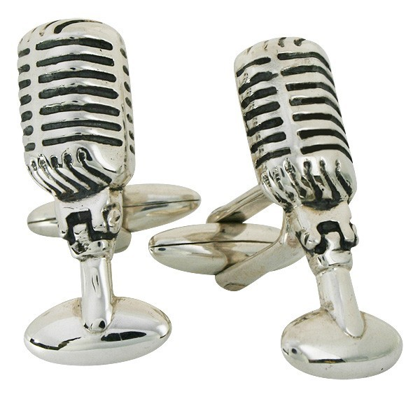 Retro 50s Radio Microphone Cufflinks