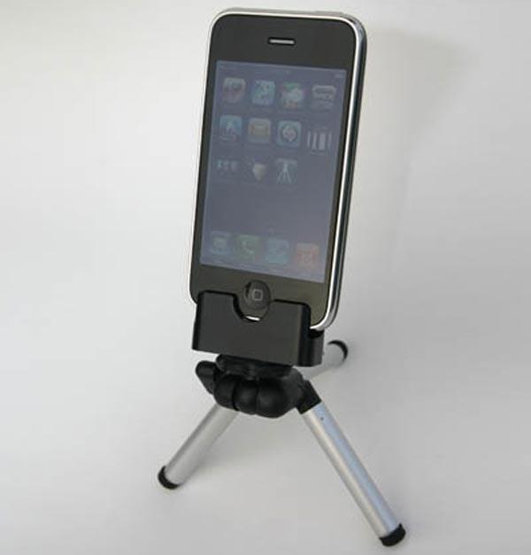 blur iphone tripod