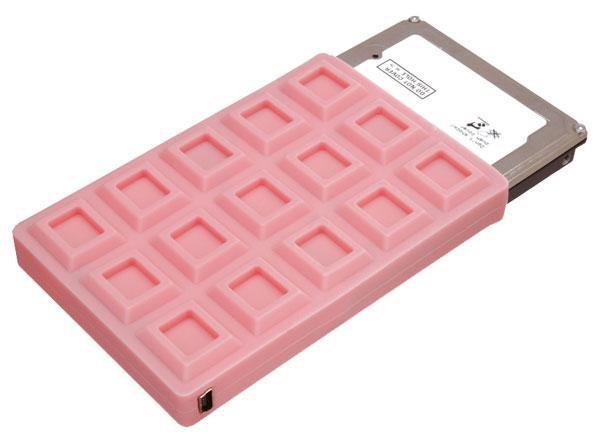 Chocolate Bar SATA Hard Drive Case