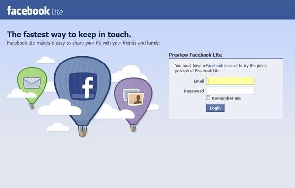 Facebook Lite Launches