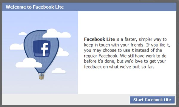 Facebook Lite Launches