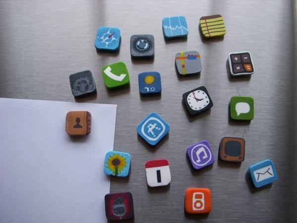 more iphone icon fridge magnets