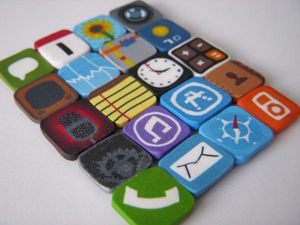 iPhone Icon Fridge Magnets