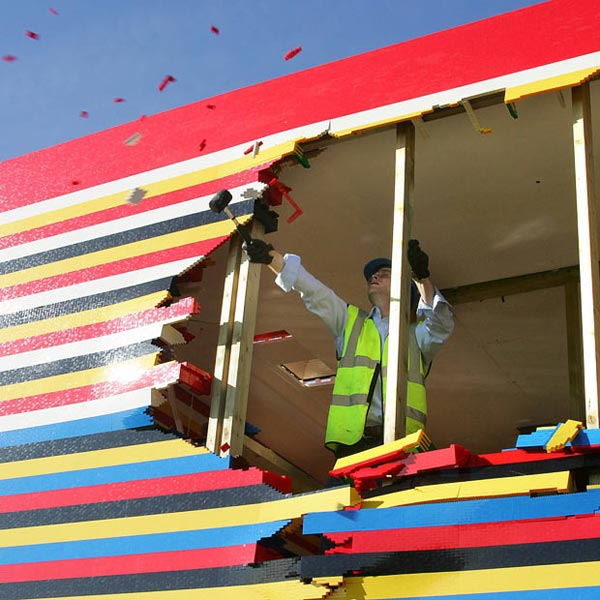 James May's Lego House Gets Demolished