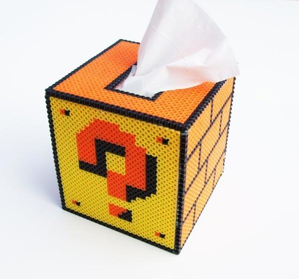 Mario Question Mark Block Tissue Box