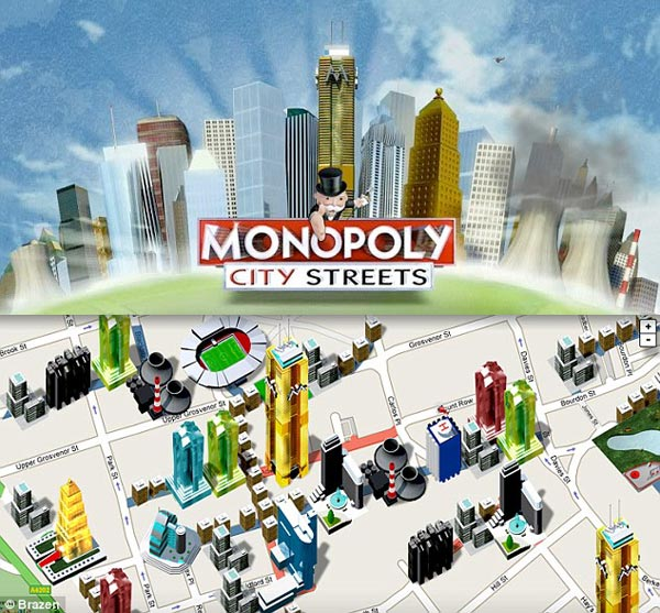 Monopoly City Streets Uses Google Maps