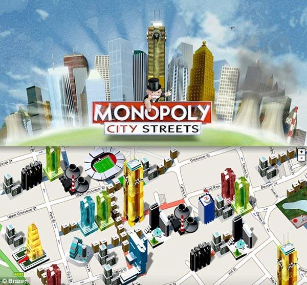 Monopoly City Streets Uses Google Maps