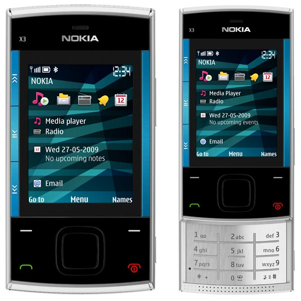 Nokia X6 and X3 Music Phones
