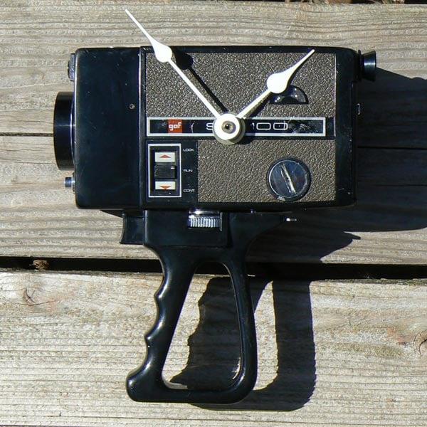 Recycled Super 8 Camera Clock