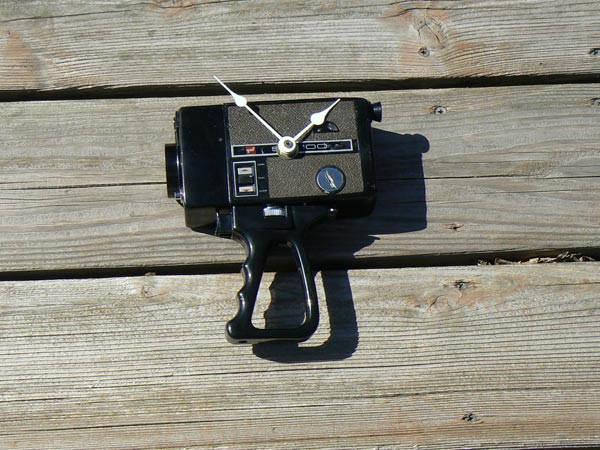 Recycled Super 8 Camera Clock