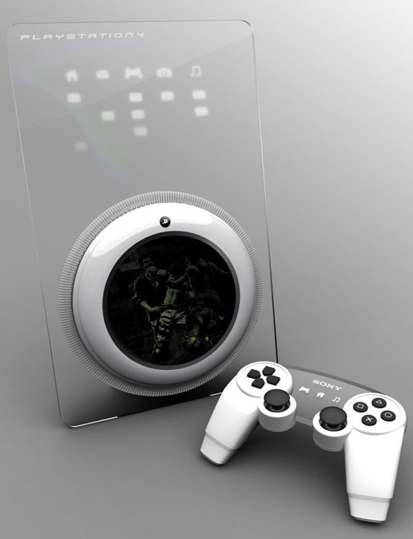 sony ps4 console concept
