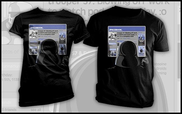Spacebook t-shirt
