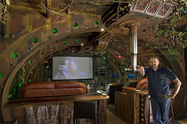 Steampunk Submarine Room