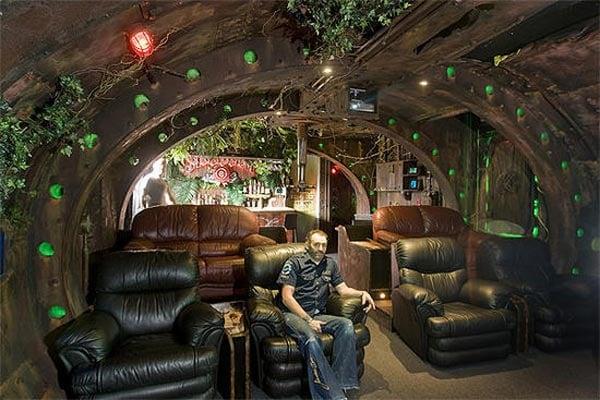 Steampunk submarine room for Steampunk house design
