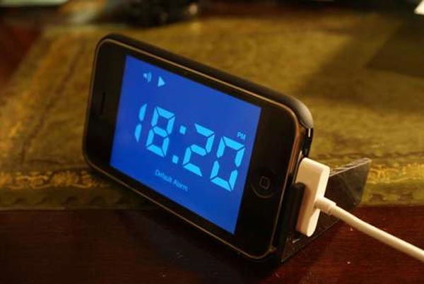DIY iPhone Alarm Clock Stand