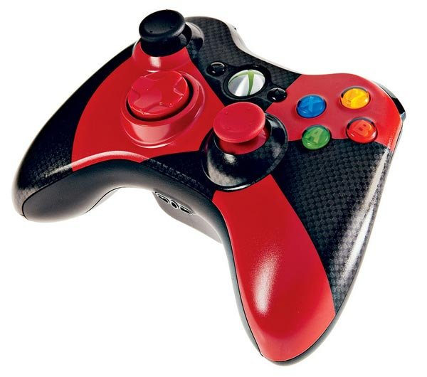 This funky looking Xbox 360 controller is a joint effort between Microsoft